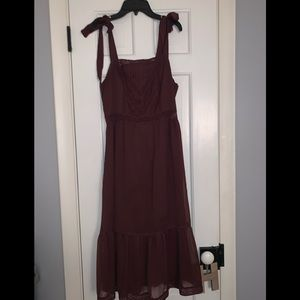 Abercrombie and Fitch Midi Dress -Maroon